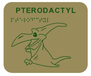 Pterodactyl Braille Play Panel
