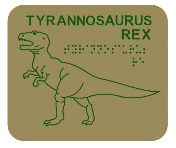 T-Rex Braille Play Panel