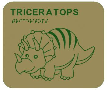 Triceratops Braille Play Panels
