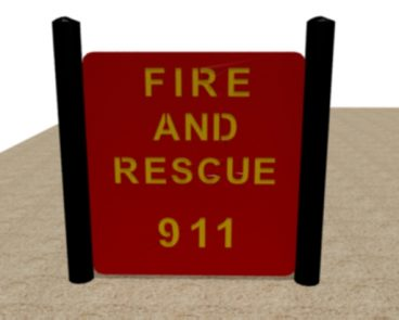 FIRE 911 HDPE PLAY PANEL