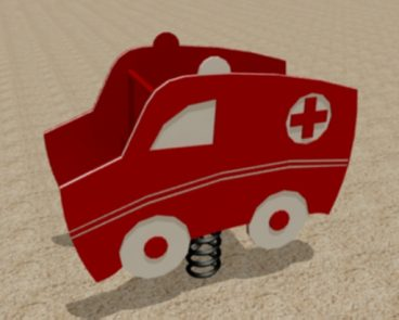 AMBULANCE HDPE JUNIOR SPRING TOY