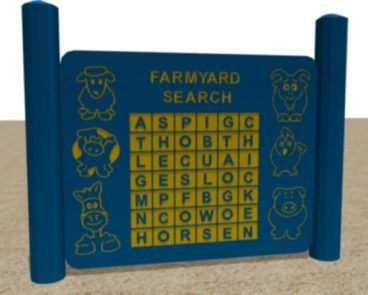 HDPE FARMYARD FIND PLAY PANEL