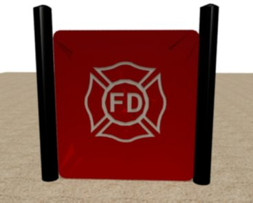 FIRE DEPARTMENT HDPE LOGO PANEL