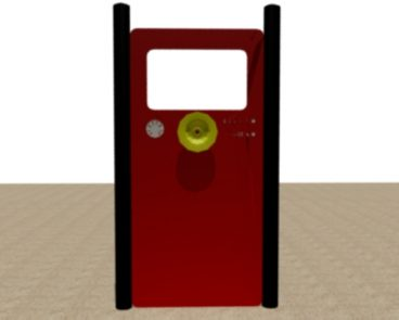 FIRE TRUCK FRONT INSIDE VIEW HDPE PANEL