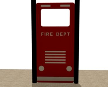 FIRE TRUCK HDPE FRONT EXTERIOR VIEW HDPE PANEL