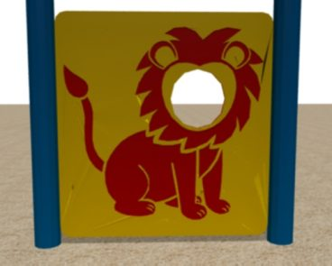 HDPE LION FACE CUT OUT PLAY PANEL