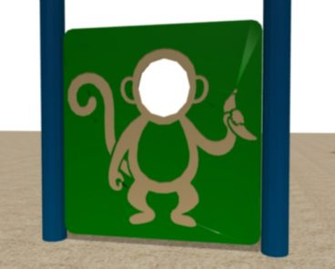 HDPE MONKEY FACE CUT OUT PLAY PANEL