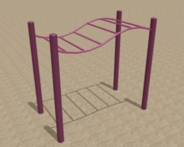 WAVY HORIZONTAL RUNG MONKEY BARS