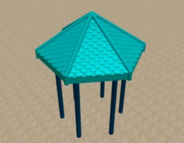 Poly Hex Roof