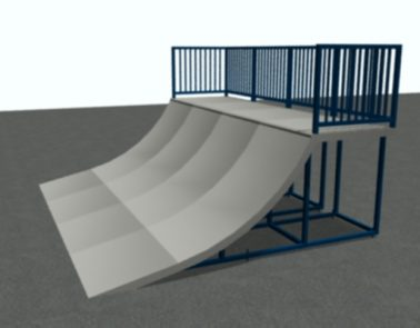 16′ Wide Quarterpipe