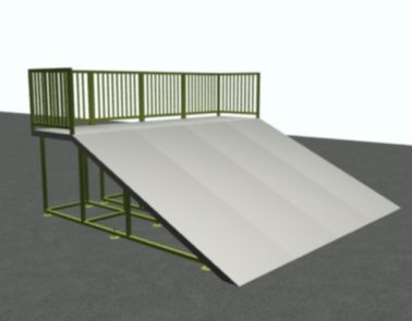 16′ Wide Wedge Ramp