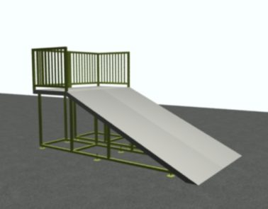 8′ Wide Wedge Ramp