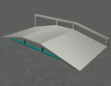 Tabletop With Rail Component