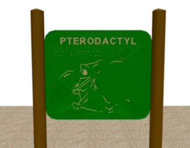 HDPE Pteradactyl Braille Panel